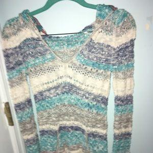 Roxy multicolor woven sweater